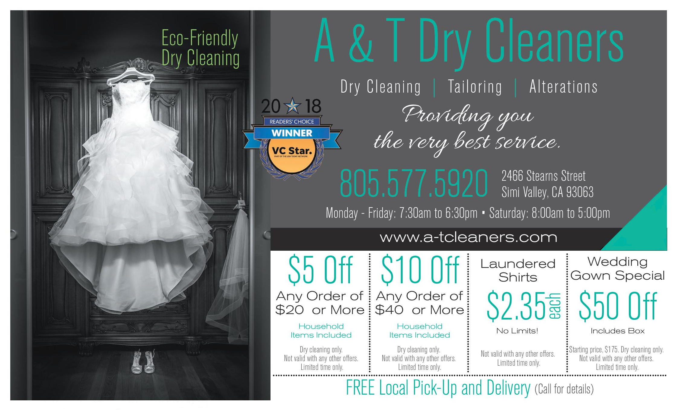 A&T Cleaners Coupon